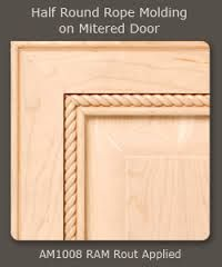 add molding to flat cabinet doors | Cabinet Door | Kitchen ...
