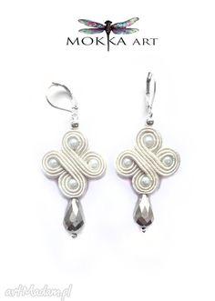 • Pendientes únicos, joyas - pendientes trenza whiteloop