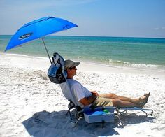 Adjule Umbrella Headrest And Positions Personalizes This Beach Lounge Chair To Fit Any