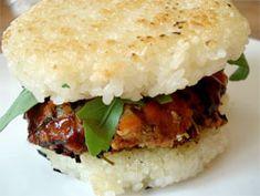 How to Make a Rice Bun Burger. #glutenfree #recipe