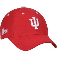 low priced bde7a 377a1 Men s Top of the World Crimson Indiana Hoosiers Triple Threat Adjustable Hat