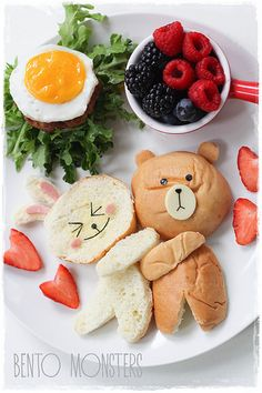 10 Amazingly Appetizing Food Art Designs A whole lot of food art designs to make your kids smile, and hopefully eat their snacks. These incredible works of (food) art almost look too good to eat! Cute Snacks, Cute Food, Good Food, Yummy Food, Toddler Meals, Kids Meals, Food Art For Kids, Food For Children, Food Kids