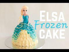 Frozen Elsa Doll Cake Tutorial - YouTube