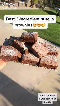 how to make nutella brownies – Schokolade Dream Fun Baking Recipes, Good Healthy Recipes, Sweet Recipes, Dessert Recipes, Cooking Recipes, Cake Mix Cookie Recipes, Nutella Brownies, Baking Ingredients, Yummy Food
