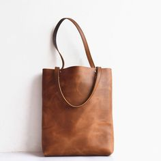 Handmade Leather Tote Bag Brown Simple Leather Tote Handbag Shopping Bag Leather Shopper Tote Leather Purses Women Tote Bags  Shoulder Bag by SolidLeatherCo on Etsy https://www.etsy.com/listing/235138430/handmade-leather-tote-bag-brown-simple