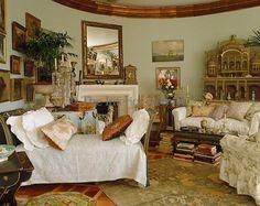 pale green living room ~ Lynn Von Kersting