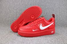 meet 94539 5ad39 Nike Air Force 1 07 LV8 Utility October Red White 315122 111 Mens Casual  Shoes
