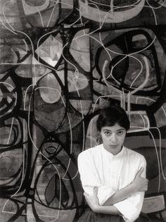 Artist Mirka Mora. 1956 photo by Athol Shmith