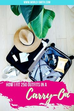 How I Fit 250 Outfits into a Carry-On | Packing tips | Tips for packing light | Solo female packing list | RTW trip packing list | What to wear on a RTW trip | Travel with just a carry-on | Carry-on backpack