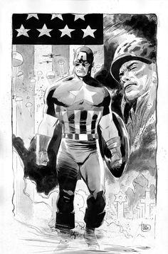Captain America by Lee Weeks