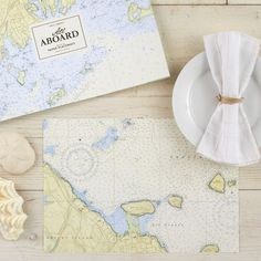 Love these Nautical Paper Placemats - these are perfect for a destination wedding!