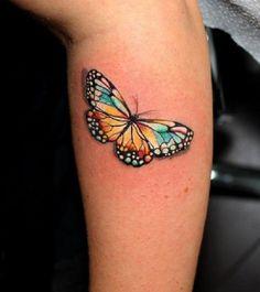 3D butterfly tattoo 25 - 65 3D butterfly tattoos   <3
