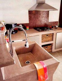 Αποτέλεσμα εικόνας για κουζινα με πατητη τσιμεντοκονια