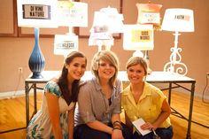 I like this idea for a girls group.  Each lamp could have their name and could reflect them being present in the group