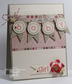 Sweet Baby Girl Card...with a banner.: