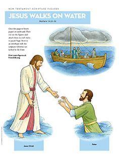 New Testament Scripture Figures, Jesus Walks on Water