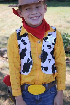 DIY Woody Costume - with a SUPER fun special detail!! Amazing pork chop and alien costume too