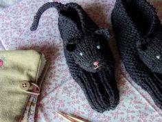 Cuddliest Kitty Slippers - Olallieberry  >>> So cute.