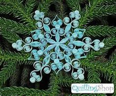 snowflake paper craft and handmade christmas tree decorations