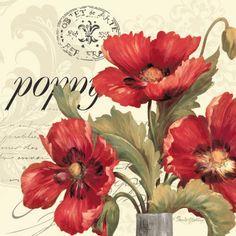 Red and White I Print by Pamela Gladding