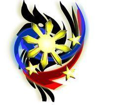 Filipino Tribal Logo by Sullivan Bahringer Filipino Tribal Tattoos, Tribal Arm Tattoos, Philippine Flag Wallpaper, Black Flag Logo, Philippines Tattoo, Tribal Logo, Philippine Map, Realistic Tattoo Sleeve, Images Wallpaper