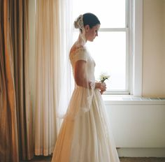 vintage gown -- photo by karen hill photography