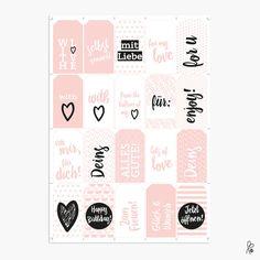 Printable / Geschenkanhänger / rosa von sppiy auf Etsy