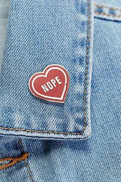 These Are Things Nope Heart Pin - Urban Outfitters