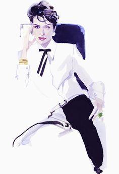 Farida Khelfa, Paris 2014 #fashionillustration #artluxedesigns #model