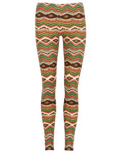 Multi Colour Tribal Print Leggings  #Chiarafashion