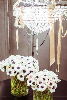 J.Crew weddings & parties. - love seeing the {green} stems in the vase