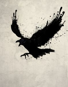 Raven Art Print, Nicklas Gustafsson