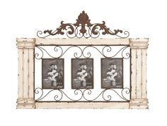 Classic Wooden Photo Frame Wall Decor Columns Vines Design Uma 34867