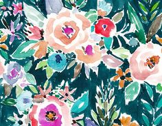 Download this beautiful floral pattern from Oakland watercolor pattern designer Barbra Ignatiev! (It's free :)