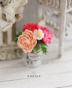 Dollhouse miniature flowers- Summertime sweetness by CheilysMiniature on Etsy