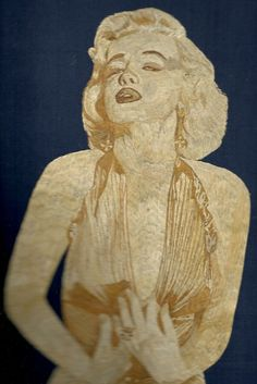 MARILYN MANROE  Rice straw art portrait of Hollywood star $ 250.  Marilyn Manroe in rice straw art by museumshop, Hollywood star in leaf art  by museumshop on Etsy, COLLECTIBLE ART    Hollywood legend handmade with dried leaves.Handmade leaf art  No color paint or dye added to the natural color of rice straw (Dried leaves of rice plant).  This portrait is not a Photo, Painting, Print but handmade with thousands of tiny pieces of rice straw.  COLLECTIBLE LEAF ART.