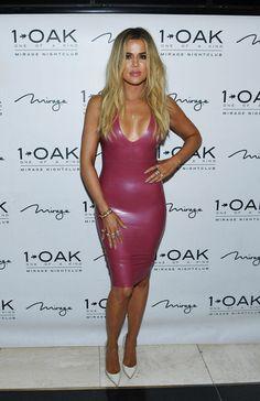 Khloé Kardashian arrives at Scott Disick's 33rd birthday at 1 OAK Las Vegas.