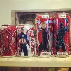 avengers age of ultron dr. pepper cans canada - Google Search