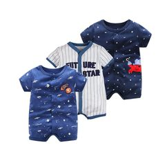 Cheap jumpsuits for newborn, Buy Quality baby romper summer directly from China baby rompers Suppliers: 2017 Summer Short Sleeved Jumpsuit For Newborn Romper Character Baby Boy Clothes and Baby Girl Clothes Baby Rompers Summer Baby Outfits, Cute Girl Outfits, Baby Boy Romper, Baby Boy Newborn, Baby Jumpsuit, Baby Pants, Baby Boys, Toddler Girl, Summer Romper