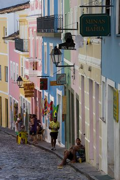 Life on the streets of multi-hued Salvador, Brazil San Salvador, Central America, South America, Wonderful Places, Beautiful Places, Places Around The World, Around The Worlds, Bahia Brazil, Brazil Travel