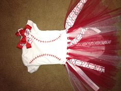 Baby girl's baseball outfit! This afternoon's craft project.