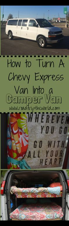 Our Converted Campervan is Ready to Hit the Road! From 15 passenger van to cozy Camper Van – How to convert a large van into a cozy home on wheels! Van Camping, Camping Gear, Camping Hacks, Cargo Van Conversion, Camper Conversion, 15 Passenger Van, Converted Vans, Chevy Express, Chevy Van
