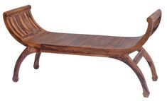 Sit back and relax on this gorgeous bench made from tropical sheesham wood which boasts rich colours and unique grain patterns.