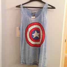 Tops - Captain America tank top.