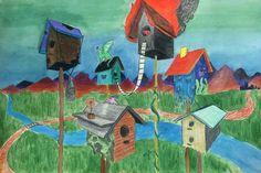 2 pt perspective birdhouses