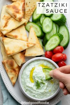 Make this Tzatziki Sauce Recipe in only 5 mins and 6 basic ingredients. This creamy Greek yogurt sauce is easy to make and perfect with gyros, kebabs Meat Appetizers, Appetizers For Party, Appetizer Recipes, Lunch Recipes, Dinner Recipes, Greek Yogurt Sauce, Aloo Methi, Healthy Recepies, Healthy Dips