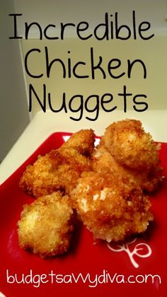 Incredible Chicken Nuggets Recipe - for the kids - Wed - since I'm craving buff. chix sammies!!!  So - they were okay, but 3 of 4 ate and didn't complain - the fourth wouldn't try them - Think I'll keep it pinned for when the freezer is empty of nuggets!!  Ps I baked, may be frying next time!