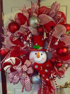 Raz Snowman Christmas Wreath