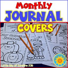 If you enjoyed my Back to School Journal Cover Freebie, then you will love this complete set of Journals covers for each month of the year! There are 2 designs for each month of the entire year so you can choose one or mix and match.
