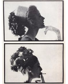 Dolores Guinness (top) and Baroness Thyssen-Bornenisza, the former model Fiona Campbell (bottom) in Givenchy hats. Photo by Bert Stern. Paris Vogue, May Bert Stern, Guinness, Givenchy Hat, Glamour Ladies, Ladies Who Lunch, The Chic, Vogue Paris, Black And White Photography, Vintage Fashion